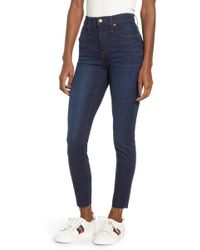 Caslon (r) Sierra High Waist Skinny Jeans (franny) - Blue