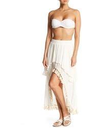 Surf Gypsy - Hi-lo Tiered Tassel Maxi Skirt - Lyst