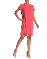 Eileen Fisher - Short Sleeve Knit Dress - Lyst