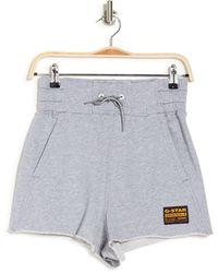 G-Star RAW High Waist Sweat Shorts - Gray