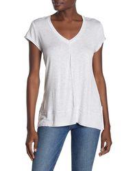 Heather by Bordeaux V-neck Tunic T-shirt - White