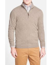 John W. Nordstrom - Quarter Zip Cashmere Sweater (regular & Tall) - Lyst