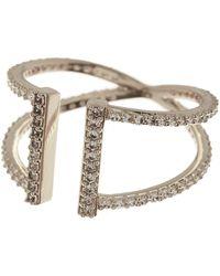 Nadri - Pave Cz Parallel Split Shank Ring - Size 9 - Lyst