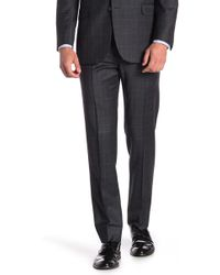 """Brooks Brothers - Charcoal Windowpane Explorer Regent Fit Suit Separates Trousers - 30-34"""" Inseam - Lyst"""