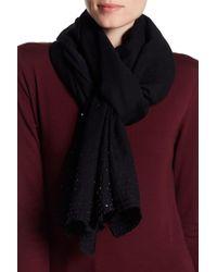 Saachi - Ines Tonal Hand Beaded Wool Scarf - Lyst