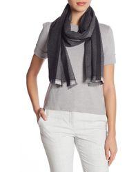Gucci Striped Wool Scarf - Gray
