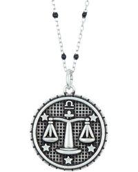 Argento Vivo Sterling Silver Libra Zodiac Necklace - Metallic