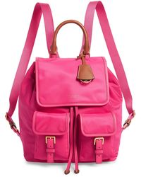 Tory Burch Perry Nylon Flap Backpack - Pink