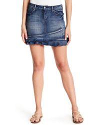 Jessica Simpson - Kiss Me Ruffle Hem Denim Skirt - Lyst