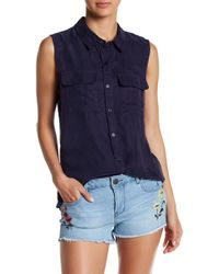 Romeo and Juliet Couture - Double Pocket Collared Tank - Lyst