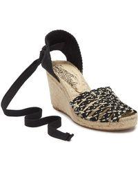 8b4701b0d148 Lyst - Free People Daybird Leather Mini Wedge Sandal