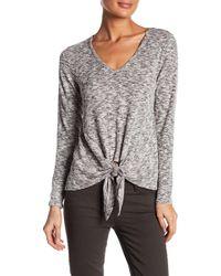 Bobeau - Tie Hem Knit Shirt - Lyst