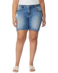 REBEL WILSON X ANGELS The Starling Boyfriend Shorts (plus Size) - Blue