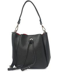 Luisa Vannini Leather Top Handle Crossbody Bag In Nero At Nordstrom Rack - Black