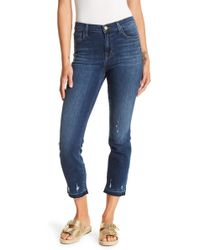 J Brand - Ruby High Rise Crop Cigarette Skinny Jeans - Lyst