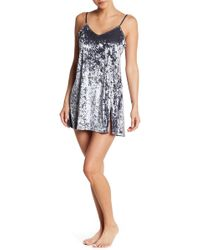 French Connection - Brushed Velvet Chemise - Lyst