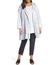 Eileen Fisher Hooded Nylon Coat - Multicolour