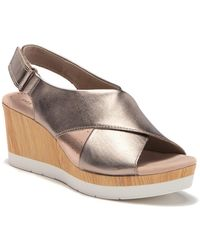 Clarks Cammy Pearl Wedge Sandal - Multicolour
