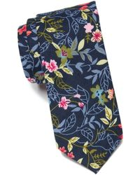 Original Penguin Giles Floral Tie - Blue