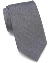Ben Sherman Daison Silk Blend Tie - Gray