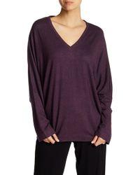 N Natori Dolman Sleeve Sweater - Purple