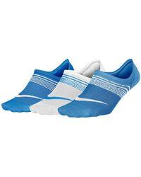 Nike - Lightweight Footie Socks - Pack Of 3 - Lyst