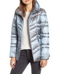 Ellen Tracy Puffer Jacket - Blue