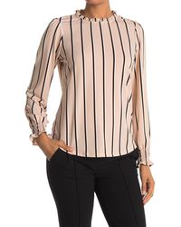 Adrianna Papell Printed Long Sleeve Knit Top - Multicolor