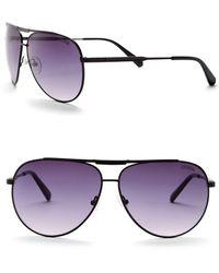 Guess 62mm Aviator Sunglasses - Purple