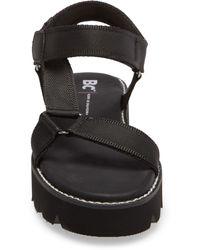 BC Footwear Eye On The Prize Quarter Strap Platform Sandal - Black