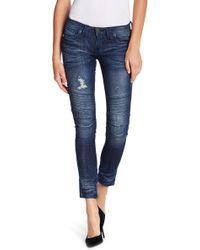 Affliction - Skinny Moto Jeans - Lyst