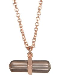 Shashi - 18k Rose Gold Vermeil Aceted Raw Crystal Pendant Necklace - Lyst