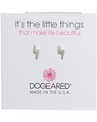 Dogeared   Sterling Silver 'it's The Little Things' Lightning Bolt Stud Earrings   Lyst