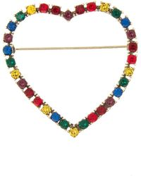 Marc Jacobs Open Heart Rainbow Pin - Multicolour