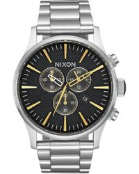 Nixon - Men's Sentry Chrono Miyota Quartz Bracelet Watch, 42mm - Lyst