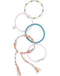 BP. Multi Bead Thread Bracelet - Pink