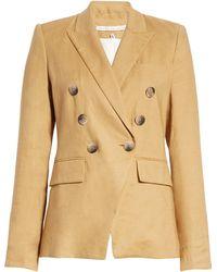 Veronica Beard Lonny Linen Blend Dickey Jacket - Natural