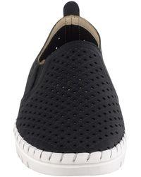 Easy Street Fresh Perforated Slip-on Sandal - Black