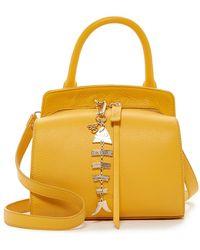 Sam Edelman Natalya Leather Mini Micro Top Handle Bag - Yellow