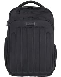 """Kenneth Cole Reaction Double Compartment Checkpoint-friendly 15.6"""" Rfid Computer Backpack - Black"""