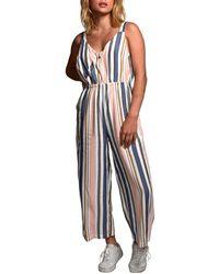 RVCA Ursan Stripe Jumpsuit - Multicolour