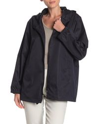 Jarbo Sateen Wrap Trench Jacket - Blue