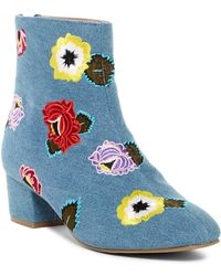 Betsey Johnson - Twiggy Embroidered Boot - Lyst
