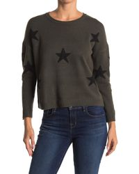 Sweet Romeo Star Print Intarsia Sweater - Black