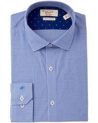Original Penguin - Heritage Slim Fit Patterned Dress Shirt - Lyst