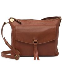 Lucky Brand Wyll Leather Crossbody Bag - Brown