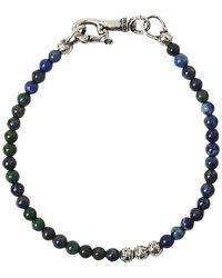 John Varvatos Azurite & Silver Bracelet - Metallic