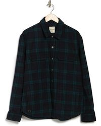 Zadig & Voltaire Tacklo Check Print Overshirt Jacket - Blue