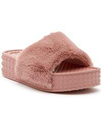 Dirty Laundry - Sonny Faux Fur Slide Sandal - Lyst