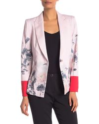 e7151ebe7 Ted Baker - Naimh Lake Of Dreams Tailored Jacket - Lyst